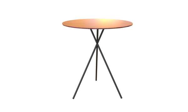 3d illustration of side table on a grey background