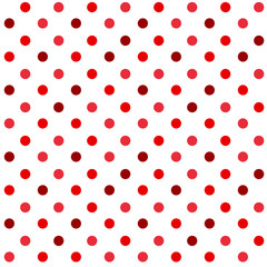 Red and white polka dot pattern seamless. Red glitter background. Christmas background. Dot pattern for gift wrap, fabric pattern, textile, tile and wallpaper.
