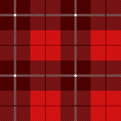 Red Tartan Check Plaid seamless patterns. Lumberjack Buffalo plaid. Rustic Christmas Backgrounds. Christmas tartan patterns. Repeating pattern tile