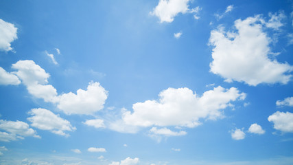 clear blue sky background,clouds with background. Fotobehang
