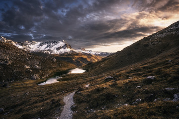 Sunset over the Swiss Alps