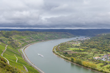 Rheinschleife bei Boppard vom Gedeonseck fotografiert