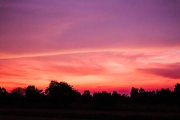 In de dag Rood traf. Sunset