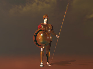 3d illustration of the god Ares