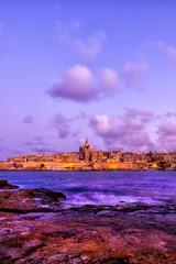 Valletta Skyline From Manoel Island At Dusk