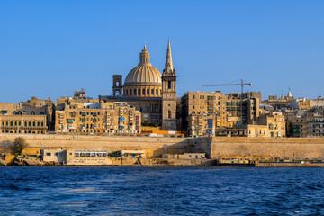 Valletta City Skyline In Malta