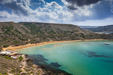 Ghajn Tuffiena Bay And Beach In Malta