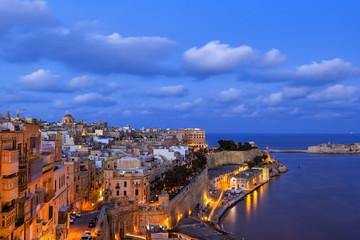 Evening at Valletta City in Malta
