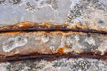 Corroded Narrow Railway Track Background