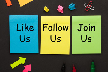 Like Us Follow Us Join Us