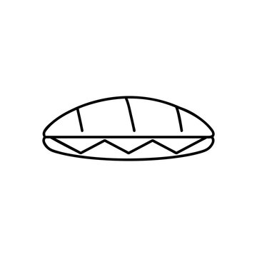 Sandwich icon or logo line art style. Isolated vector illustration of icon sign concept for your web site mobile app logo UI design.