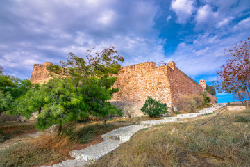 Fototapete - View of the historic venetian fort of Kazarma, Sitia, Crete