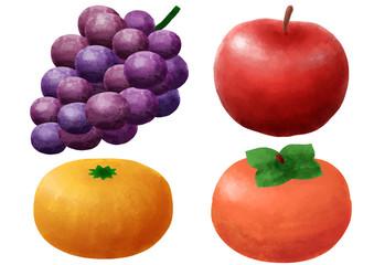果物 フルーツ ぶどう りんご みかん 柿 果物セット