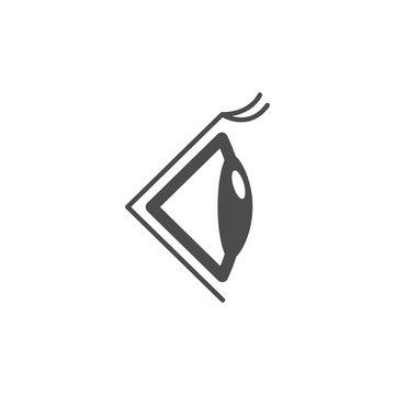 Eye side icon. Black illustration isolated on white background. Vector illustration