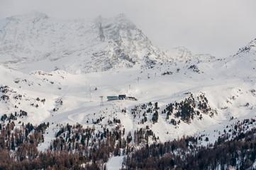 Sils, Furtschellas, Oberengadin, Bergbahn, Winter, Wintersport, Alpen, Graubünden, Schweiz