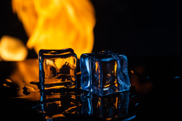 fire and ice on a black background8