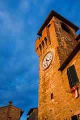 Passignano sul Trasimeno old clock tower, a city landmark
