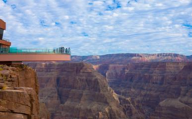 Skywalk glass observation bridge at Grand Canyon Wall mural