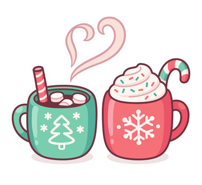 Two Christmas drink cups