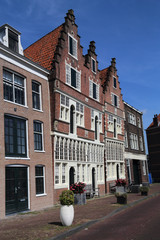 Historical houses in Hoorn, Holland