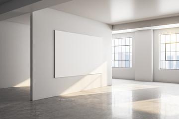 Concrete gallery interior
