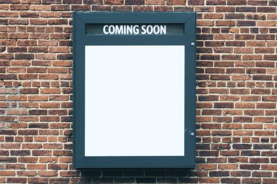 Empty cinema poster panel