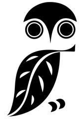 Minimal owl icon. Symbol of animal