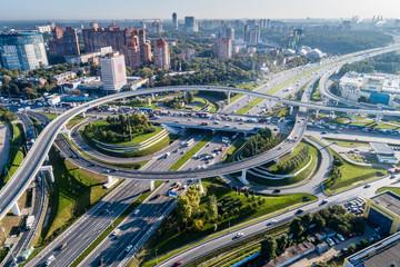 Москва, автомобильная развязка на МКАД и Ленинградском шоссе