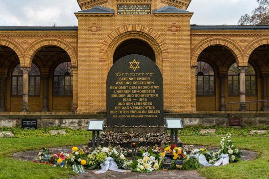 Jewish Cemetery Berlin Weißensee, Main entrance to the Jewish cemetery, Berlin, Germany