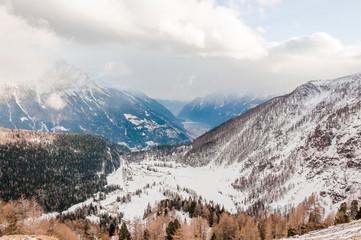 Poschiavo, Bernina, Val Poschiavo, Alp Grüm, Lago di Poschiavo, Puschlav, Val Bernina, Wanderweg, Bernina-Express, Alpen, Graubünden, Winter, Schweiz