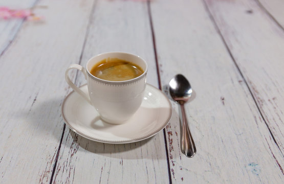 a cup of espresso coffee