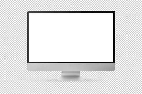 new model of computer display isolated on transparent background