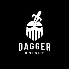 Dagger and knight logo icon
