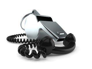 Whistle with telephone handset