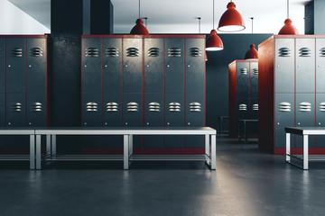 Fototapeta Clean locker room interior obraz