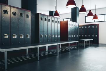 American locker room
