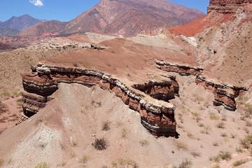 Quebrada de las Conchas in the Calchaqui Valley, Argentina