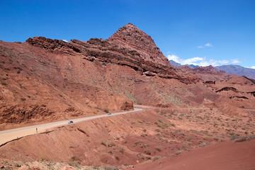 Road in the Quebrada de las Conchas in the Calchaqui Valley, Argentina