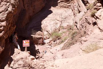 The Garganta del Diablo in the Quebrada de las Conchas in the Calchaqui Valley, Argentina