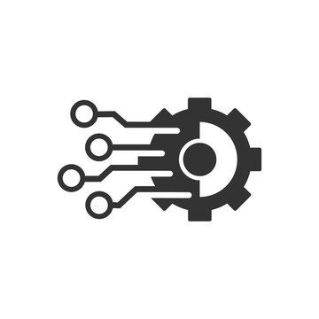 Automation. Modernization. Vector icon on a white background.