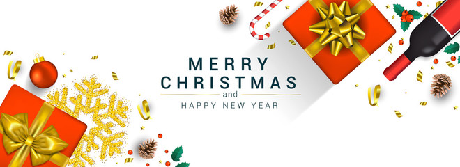 Holiday New year card - Merry Christmas on colored background 10