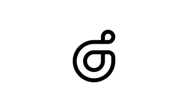 initial letter D logo design concept