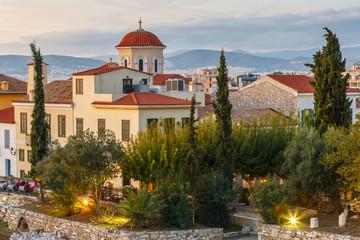 Plaka neighborhood in Athens.