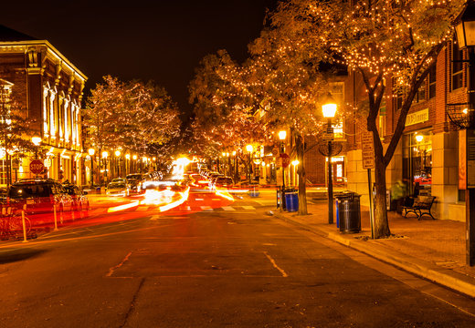 The King Street in the Alexandria at night