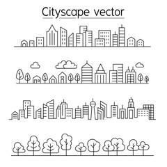 Cityscape vector illustration graphic design