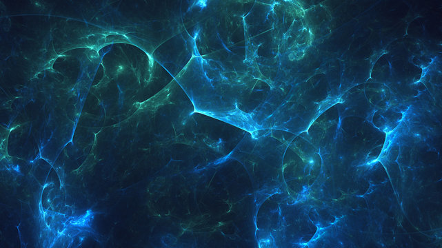Fractal 3D rendering abstract light background