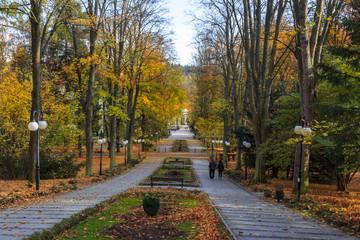 Polanica Zdroj - Autumn in polish spa park