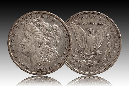 Morgan dollar us silver coin 1889