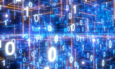 Software, web development, programming concept. Abstract Programming Wall mural