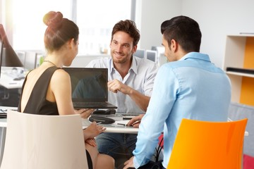 Young business people working at office